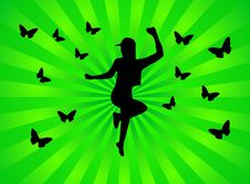 Free Girl And Butterflies Royalty Free Stock Photo - 5174645