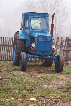Blue Tractor. Stock Image