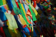 Prayer Flags In Tibet Stock Image