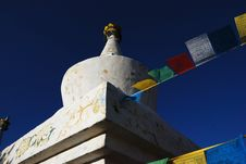 Free Tibet Buddhism Chorten Royalty Free Stock Photography - 5175317
