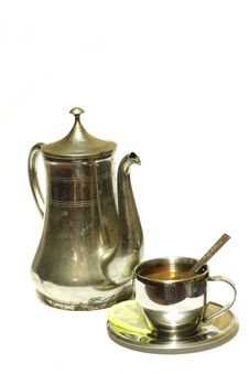Free Teapot With Cup Of Tea Stock Photography - 5175572