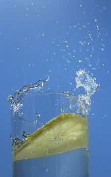 Lemon In Glass Stock Images