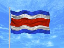 Free Costa Rica Flag 1 Royalty Free Stock Images - 5176299