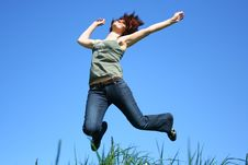 Free Jumping Girl Stock Images - 5176344