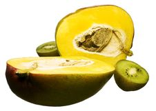Mango And Kiwi Royalty Free Stock Images