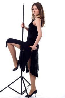 Free Dancing Girl With Tripod Stock Images - 5177254
