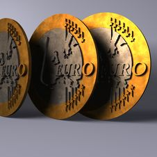 Business Euro Coins Stock Image