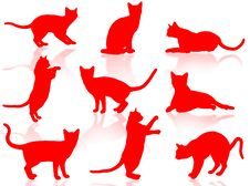 Free Cats Silhouette Royalty Free Stock Image - 5178036