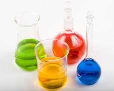 Free Various Colorful Flasks Royalty Free Stock Photos - 5178638
