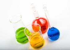 Free Various Colorful Flasks Stock Photography - 5178662