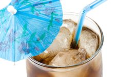 Cold Fizzy Cola With Ice Royalty Free Stock Photography
