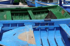 Detail Of Two Boats At The Dock Royalty Free Stock Photos