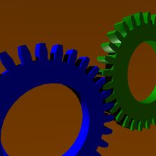 Free Background Wheels Blue And Green Royalty Free Stock Photo - 5179465