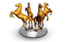 Free Statuette Of Horse Stock Photography - 5179582