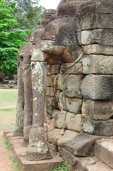 Free Cambodia; Angkor; Elephant Terrace Royalty Free Stock Photo - 5179655