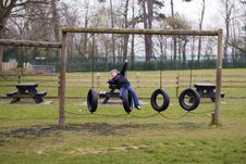 Free Swing In The Park Royalty Free Stock Images - 5179879