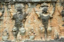 Free Cambodia; Angkor; Elephant Terrace Royalty Free Stock Images - 5179899