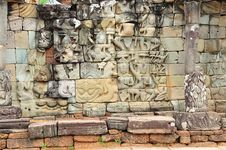 Free Cambodia; Angkor; Elephant Terrace Stock Photography - 5179952