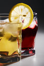 Free Cocktail, A Lemon And An Ice Royalty Free Stock Image - 5181166