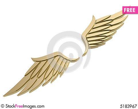 Free Wing Symbol Royalty Free Stock Photography - 5183967