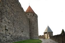 Free Old Defense Walls Of Carcasson Castle, France Royalty Free Stock Photos - 5180188