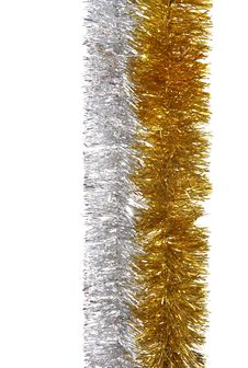 Free Silver And Gold Garland Closeup Stock Photo - 5180400