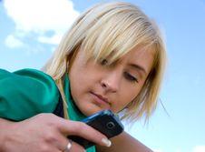 Free Blonde Messaging Royalty Free Stock Photos - 5180458