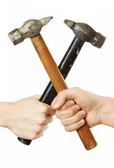 Free Crossing Hammers Stock Image - 5180501