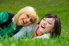 Free Two Young Happy Girls Stock Photo - 5180680