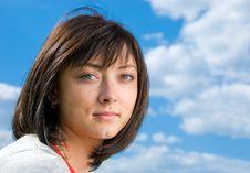 Free Cute Brunette Portrait Royalty Free Stock Photos - 5180778