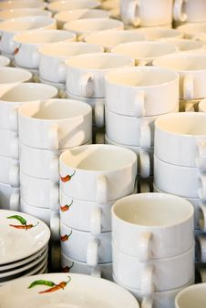 Free White Coffee Cups Stock Image - 5181811