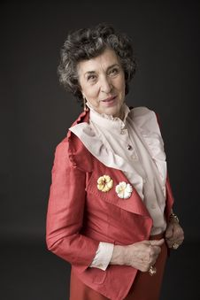 Portrait Of A Senior Lady Stock Image