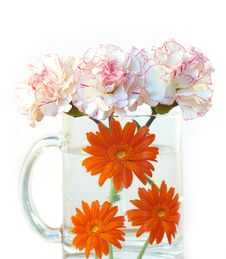 Free Flowers And Cups Royalty Free Stock Images - 5182139