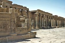 Free Philae Temple Colums Stock Photo - 5182420
