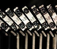 Free Old Typewriter Stock Photos - 5182513