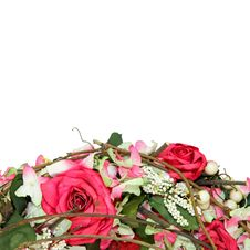 Free Roses Wreath Detail Stock Image - 5182821
