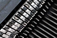 Free Old Typewriter Stock Photography - 5183022