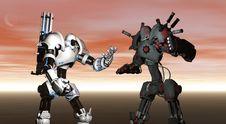 Battle Robots Stock Photography