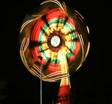 Free The Beautiful Light Trails In A Carnival Royalty Free Stock Images - 5184049