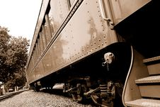 Vintage Passenger Rail Car Stock Photography