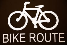 Free Bike Route Signage Royalty Free Stock Photos - 5184378