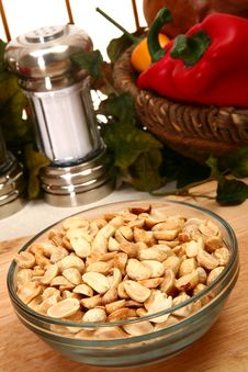 Dry Roasted Peanuts Unsalted Stock Photo