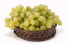 Free Green Grapes In Basket. Stock Images - 5184804