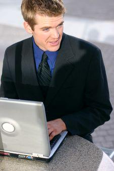 Free Businessman Laptop Stock Images - 5185314