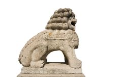 Free Lion Stone Sculpture 1 Royalty Free Stock Image - 5186596