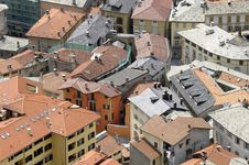 Aerial View Of Roofs Stock Photography