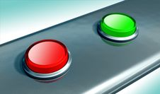 Free Two Buttons Stock Images - 5186954
