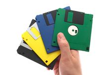 Free Multi-coloured Diskettes Stock Photo - 5186970