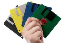 Multi-coloured Diskettes Royalty Free Stock Image