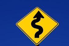 Curves Ahead Royalty Free Stock Photos